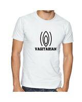 Vagitarian funny Vegan T shirt Tee Unisex Naughty Joke humor anti-animal