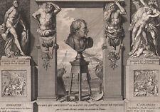 1795 Rare gravure Pierre Puget Sculpteur peintre architecte Versailles