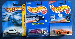 S50-Hot Wheels blue card #87 Purple Passion, Jagaur SJ220 & 2008 model Dodge Cha