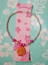 "NIP Lovely Shopkins kids kooky cookie Necklace 16"" long stretchable"