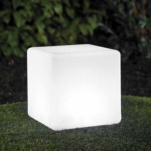 XL LED kugel Würfel Solar Garten 30cm Leuchte mit Farbwechsel RGB LK04-6