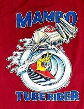 MAMBO XL MAROON RED MUSCLE LOUD T-SHIRT TUBE RIDER MATTHEW MARTIN SURF CULTURE