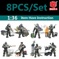 Military Special SWAT Police Building Bricks Figures Educational Toys 8PCS/Set