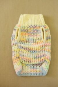 """Handmade Hand Knit Cat Sphynx Jumper Sweater Small Pets Clothes """"Cotton Candy"""""""
