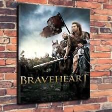 "BRAVEHEART Movie toile imprimée photo A1.30""x20"" 30 mm Deep Scotland Mel Gibson"