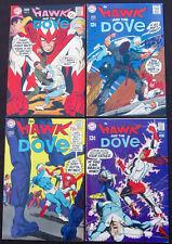 HAWK AND THE DOVE Lot 2 3 4 6 - Four Silver-Age Boks (DC 1968-69) 8.0 VF