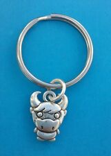 COW/BULL/CALF/FARM ANIMAL Tibetan Silver Keyring/Bag Charm. Birthday Gift.