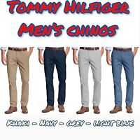 NEW TOMMY HILFIGER Men's Tailored Fit Chino Pants - Flat Front - VARIETY