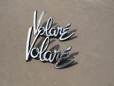 1970 s ERA Plymouth VOLARE MEtal Fender Emblem SET NICE W Pins