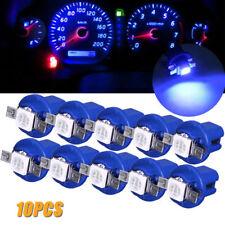 10X Blue T5 B8.5D 5050 1SMD LED Dashboard Gauge Interior Instrument Light Bulbs