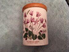 "PORTMEIRION Botanic Garden Storage Jar With Lid Cyclamen 5"" High + Lid.   (B352)"