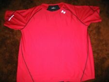 Under Armour HeatGear men's size Xl, red/black t-shirt