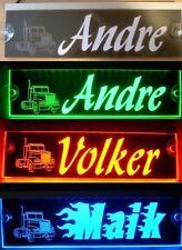 LKW Namensschild,LED beleuchtet,12V-24V, BLENDFREI, Andre Wunschname