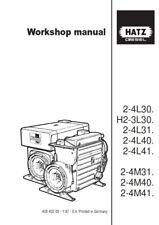 HATZ DIESEL ENGINE H2-3L30 2-4L30 L31 L40 L41 2-4M31 M40 M41 WORKSHOP MANUAL