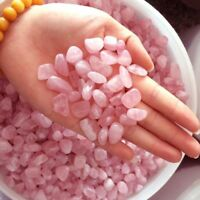 50g AAA+++ New Natural Pink Rose Quartz Crystal Stone Rock Chips Lucky Healing