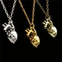 2019 Hot Link Chain Biology Anatomy 3D Simulated Heart Pendant Necklace for Girl
