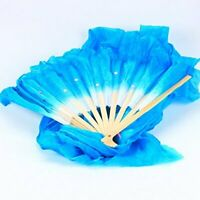 1.8m Bamboo Belly Silk Dancing Veils Long Fans Square Dancing Fans Party Dance