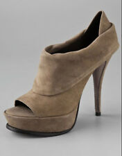 NEW Elizabeth and James E-More Taupe Suede Platform Ankle Bootie Size 9.5 B Heel