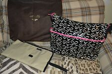 Great condition! Kate Spade Serena Daycation Baby Diaper Bag Ribbons blk/cream