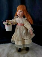 15 Inch Porcelain Anne of Green Gables Doll freckles red hair green eyes