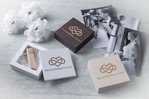 Handmade wedding wood photo box for USB Drive for wedding
