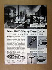 1957 Western Maryland WM Locomotive photo Black & Decker Drills vintage print Ad