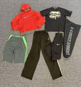 Nike Sweatshirt Boys Youth Size XL Athletic Lot of 6 Items Adidas & Under Armour