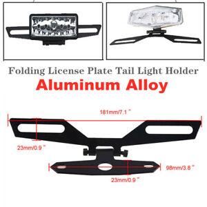 Folding Adjustable Motorcycle Flip Up License Plate Tail Light Holder Bracket