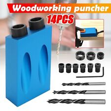 Diy Woodworking Carving Tools Pocket Hole Screw Jig Adapter Drill Set Carpenter