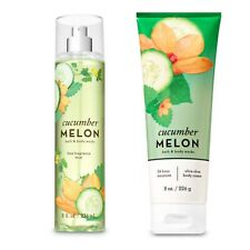 Bath and Body Works Cucumber Melon Fine Fragrance Mist and Body Cream Set