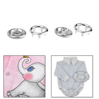 11mm Silver Prong Ring Poppers Snap Fasteners for DIY Sewing Baby Clothes Bibs