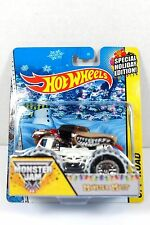 HOT WHEELS MONSTER MUTT MONSTER JAM HOLIDAY EDITION OFF-ROAD CAR 1/64 SNOW TIRES