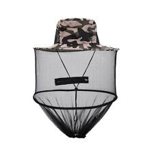 Anti Mosquito Mesh Head Face Neck Protection Fishing Mask Hat New Camouflage
