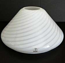 VETRI VENINI Floor Lamp Shade Art Murano Glass Chandelier Swirl White Italy Vtg