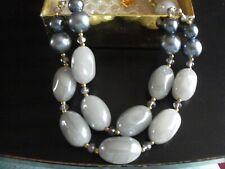 Butler & Wilson Grey Bead Necklace