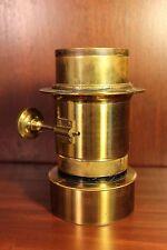 Antique Brass Photo Lens Petzval Old Vintage Camera c. 1900