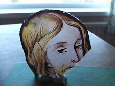 19th CENTURY BRITAIN.   STAINED GLASS FRAGMENT.  RARE.  EXCELLENT EXAMPLE.