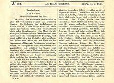 Dr.A. Miethe Leuchtfeuer Fresnel`scher Bienenkorb Marine Histor.Technik von 1891