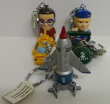 THUNDERBIRDS : THUNDERBIRD 1,2,4, BRAINS & ALAN TRACY KEY RING SET