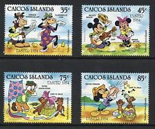 Caicos Islands 1984 Easter Disney Cartoon Characters SG 50 - 53 unmounted mint