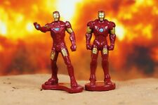 Marvel Superheros Iron Man Mark 3 4 Set Avengers Figure Cake Topper A594 A595