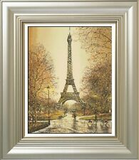 Counted Cross Stitch Kit - Eiffel Tower In Rain, free shipping