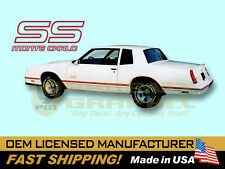 1987 1988 Monte Carlo SS Super Sport Decals Stripes 3-Color Graphics Kit