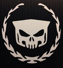 Cadillac SRX Escalade ATS CTS Skull And Wreath Sticker Decal You Pick Color