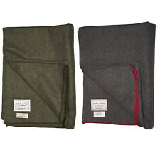More details for wool blanket army military style combat field camping outdoor sleeping work new