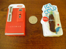 "2 Vintage~Coca Cola~Refrigerator magnets~Thermometer~Vendi ng Machine~""Ice Cold"""