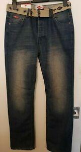 Lee Cooper, Jeans Regular Fit, Blue, Size: W-30, L-32, New