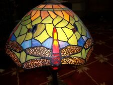Dragon Fly, Leaded Glass Shade and Lamp base, late 60's - 70's
