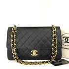 Vintage CHANEL Double Flap 25 Quilted CC Logo Lambskin Chain Shoulder Bag/F0919