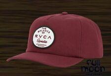 New RVCA Men's Built Maroon Mens Relaxed Fit Snapback Trucker Cap Hat